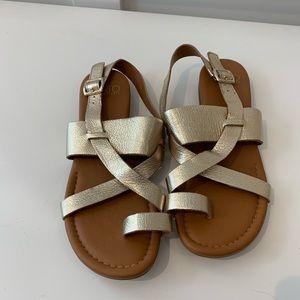 Franco Sarto metallic gold sandals 8